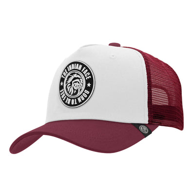 Gorras trucker Born to be Free White / Red para hombre y mujer
