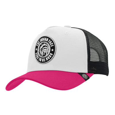 Gorras trucker Born to be Free White / Pink / Black para hombre y mujer