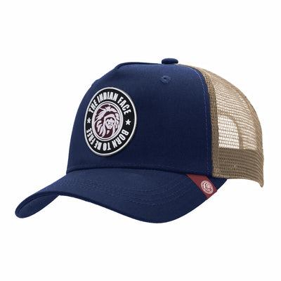 Gorras trucker Born to be Free Blue / Brown para hombre y mujer