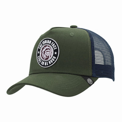 Gorras trucker Born to be Free Green / Blue para hombre y mujer