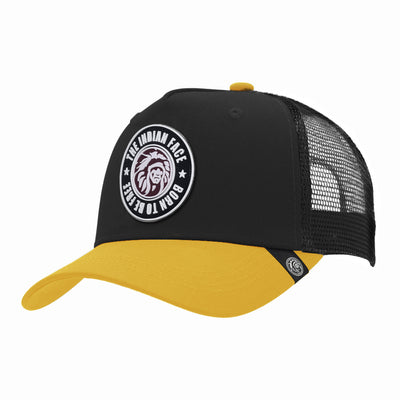 Gorras trucker Born to be Free Black / Yellow para hombre y mujer