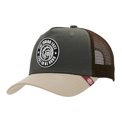 Gorras trucker Born to be Free Green / Brown para hombre y mujer