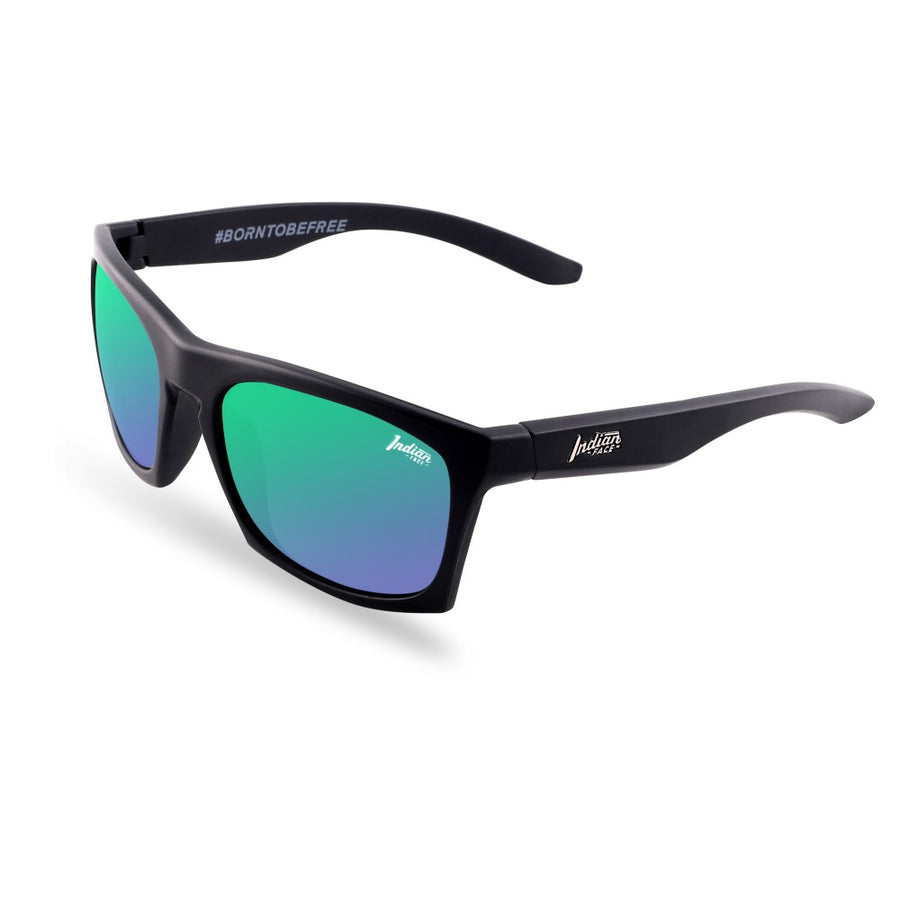 Gafas de Sol Barrel Black / Green