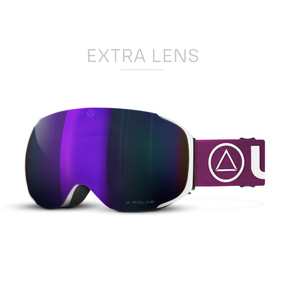 Gafas de Esqui Helix White / Purple