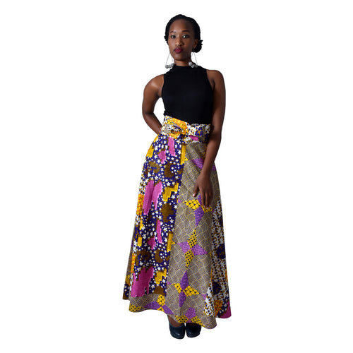 Kitemge Women Skirt Multi-colour Purple Maxi Skirt by SWAIV on RONKOS