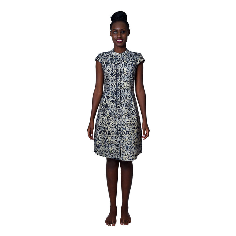 Women Dress Shirt Dress by Uzi Collections on RONKOS