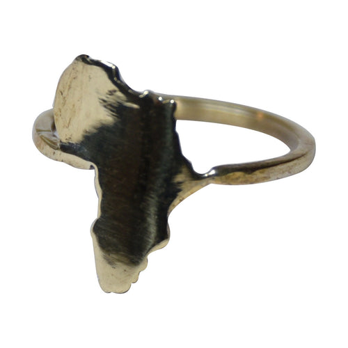 Women's Jewellery Brass African Continent Ring by KTSOBE on RONKOS