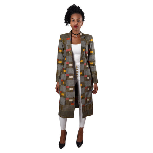 Kitenge Long Coat