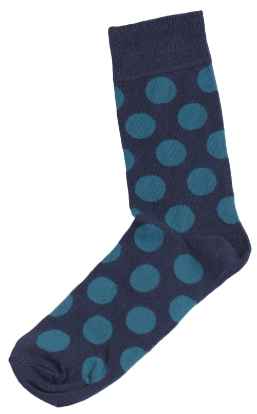 Men's Socks Blue On Blue Polka Dots Socks by SLAY on RONKOS