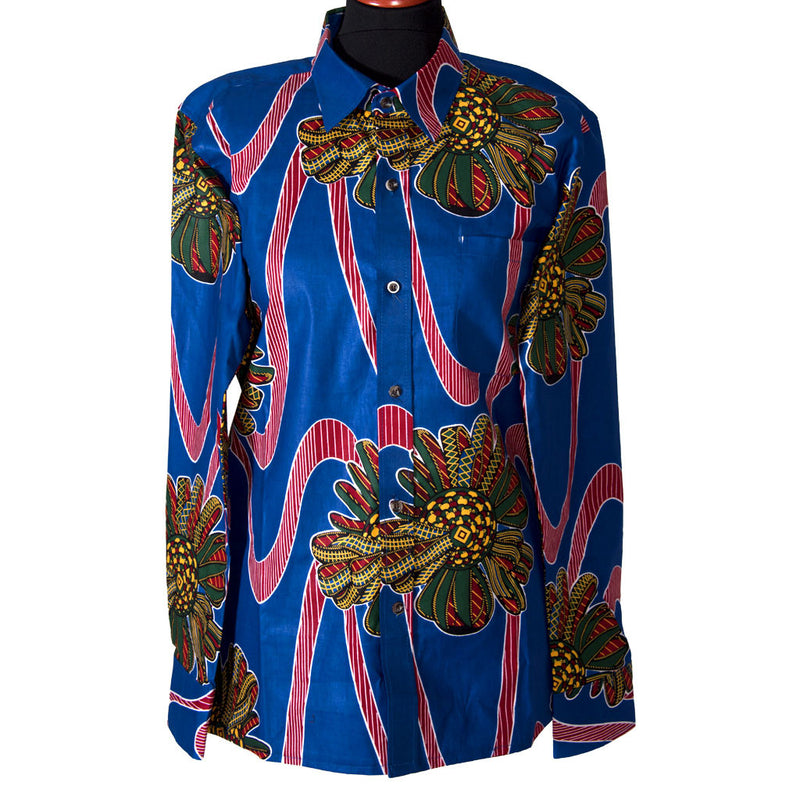 Men Kitenge Shirts Printed Kitenge Shirt by SWAIV on RONKOS