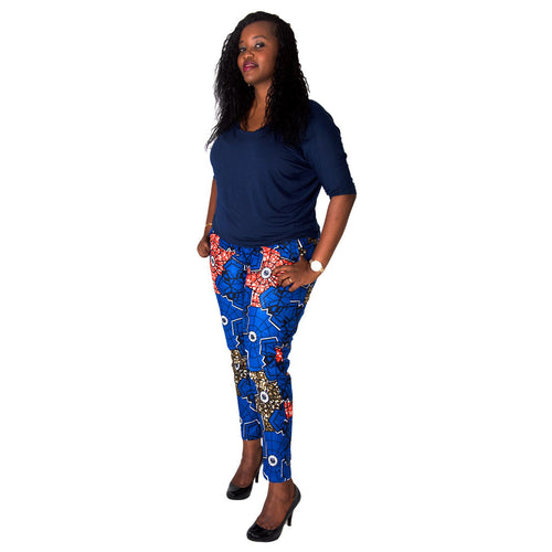 Kitenge Women Trousers by SWAIV Ankle Length Kitenge Pants on RONKOS