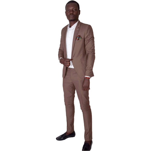 Men Suits Slim Fit Suit - Brown by SILAS on RONKOS