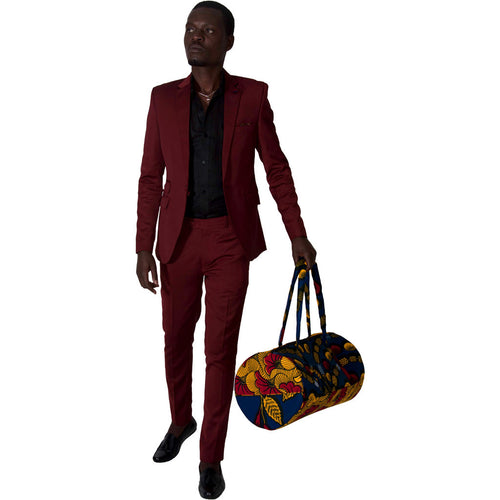 Men's Bag Kitenge Travel Bag by SILAS on RONKOS