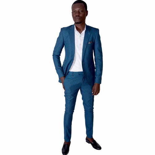Men Suit Slim Fit Suit - Blue by SILAS on RONKOS