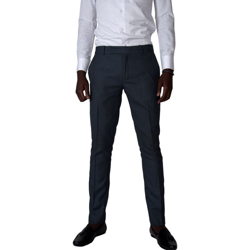 Men Trousers Slim Fit Trousers - Grey by SILAS on RONKOS