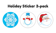 Sticker - Holiday 3-pack