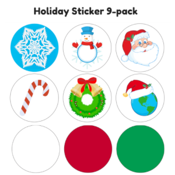 Sticker - Holiday 9-pack