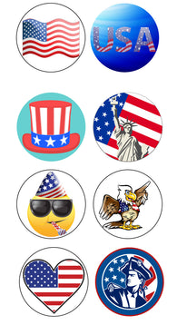 Sticker - Patriotic 8-Pack