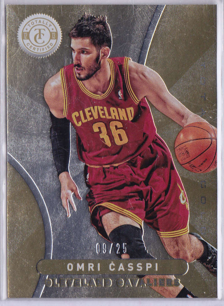 2012-13 Panini Totally Certified Gold #41 Omri Casspi NM-MT H5 /25