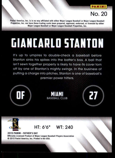 2015 Panini Father's Day #20 Giancarlo Stanton MINT D1