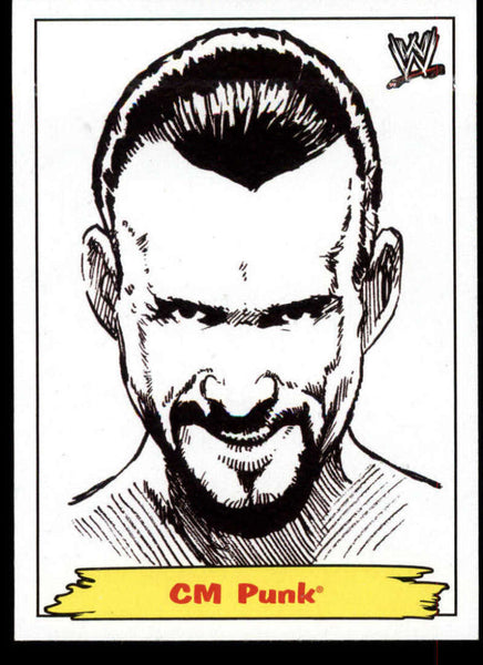 CM Punk 2012 Topps Heritage WWE Portraits Jerry The King Lawler #3 Rare Insert NM-MT+