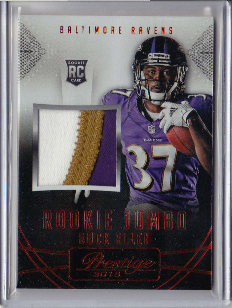 2015 Panini Prestige Rookie Jumbo Patches #33 Buck Allen MINT x4 MEM