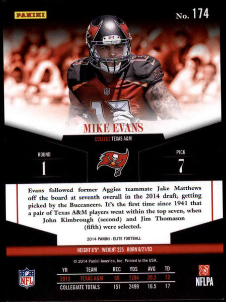 2014 Donruss Elite Rookies #174 Mike Evans MINT a RC Rookie /499