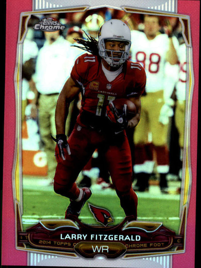 2014 Topps Chrome BCA Pink Refractor #76 Larry Fitzgerald MINT a /399