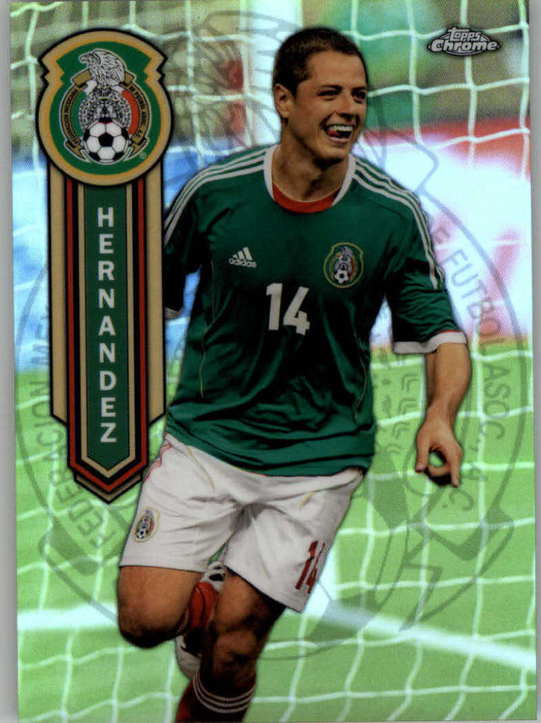 2014 Topps Chrome Mexican National Team Refractor #MEXN-JH Javier Hernandez NM-MT+ ck