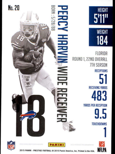 2015 Panini Prestige #20 Percy Harvin NM-MT+ cb