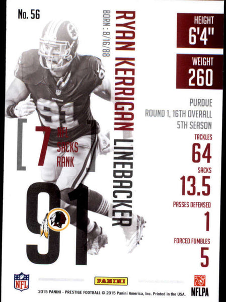 2015 Panini Prestige #56 Ryan Kerrigan NM-MT+ cb