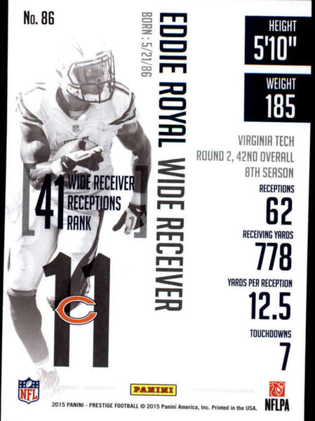 2015 Panini Prestige #86 Eddie Royal NM-MT+ cb
