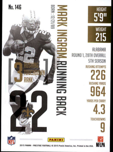 2015 Panini Prestige #146 Mark Ingram NM-MT+ cb