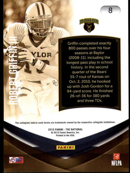 2015 Panini National Convention College Legends #8 Robert Griffin III NM-MT+ H4