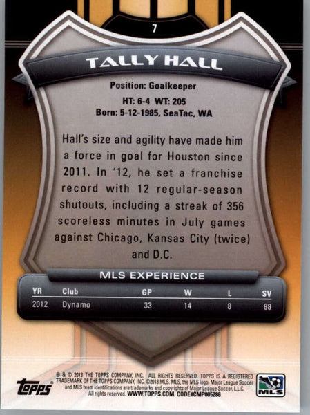 2013 Topps MLS #7 Tally Hall NM-MT+ cd