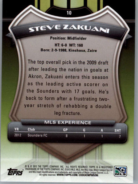 2013 Topps MLS #10 Steve Zakuani NM-MT+ cd