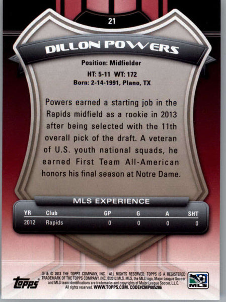 2013 Topps MLS #21 Dillon Powers NM-MT+ cd