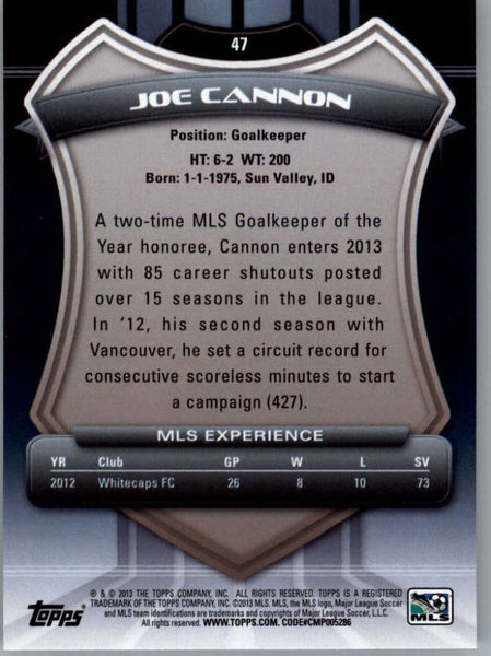 2013 Topps MLS #47 Joe Cannon NM-MT+ cd