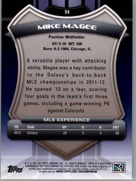 2013 Topps MLS #54 Mike Magee NM-MT+ cd