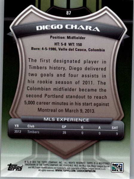 2013 Topps MLS #87 Diego Chara NM-MT+ cd