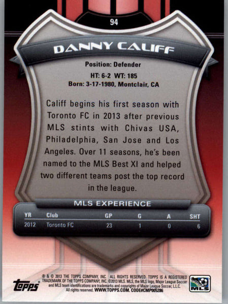 2013 Topps MLS #94 Danny Califf NM-MT+ cd