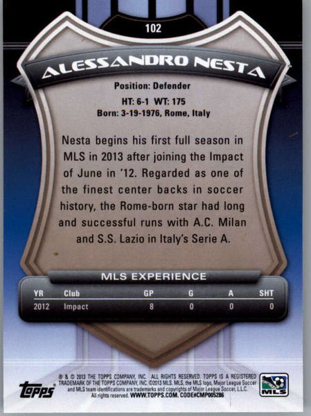 2013 Topps MLS #102 Alessandro Nesta NM-MT+ cd