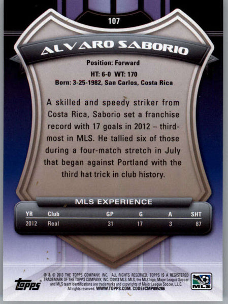 2013 Topps MLS #107 Alvaro Saborio NM-MT+ cd