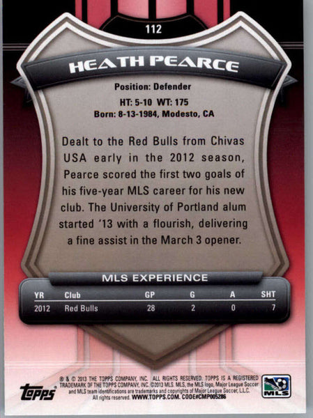 2013 Topps MLS #112 Heath Pearce NM-MT+ cd