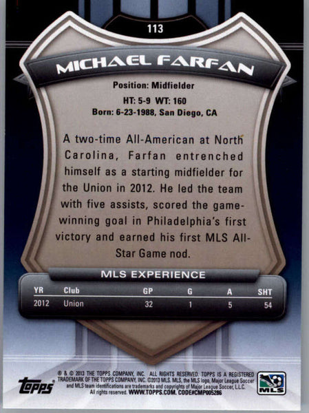 2013 Topps MLS #113 Michael Farfan NM-MT+ cd
