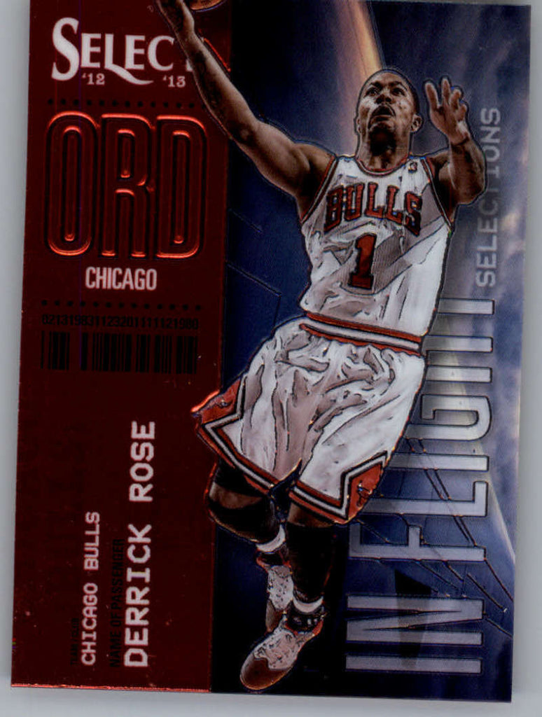 2012-13 Panini Select In-Flight Selections #5 Derrick Rose NM-MT+ a
