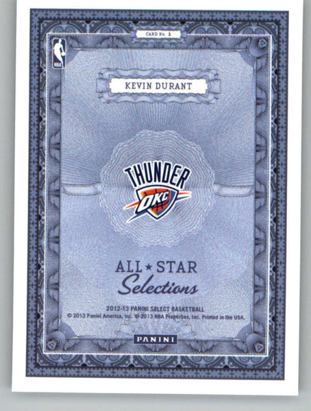 2012-13 Panini Select All-Star Selections #1 Kevin Durant NM+++ a