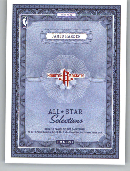 2012-13 Panini Select All-Star Selections #5 James Harden NM-MT+ a