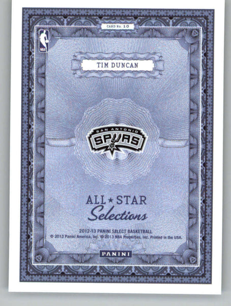 2012-13 Panini Select All-Star Selections #10 Tim Duncan NM-MT+ a