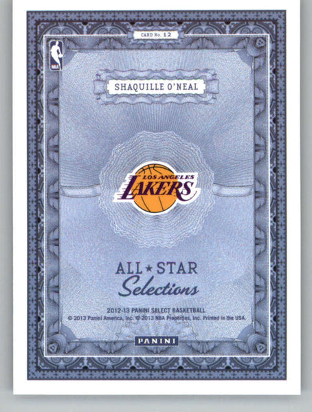 2012-13 Panini Select All-Star Selections #12 Shaquille O'Neal NM-MT+ a